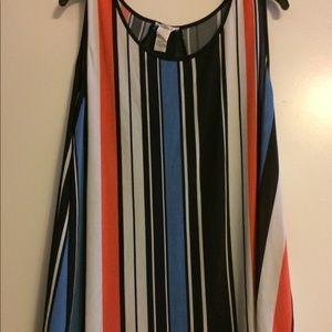 Tops - Multi-colored stripe tank size 2x